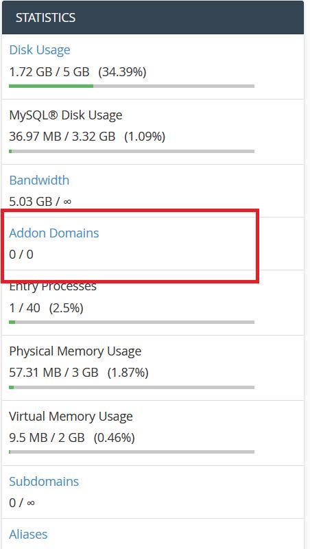 هاست فاقد Addon Domain
