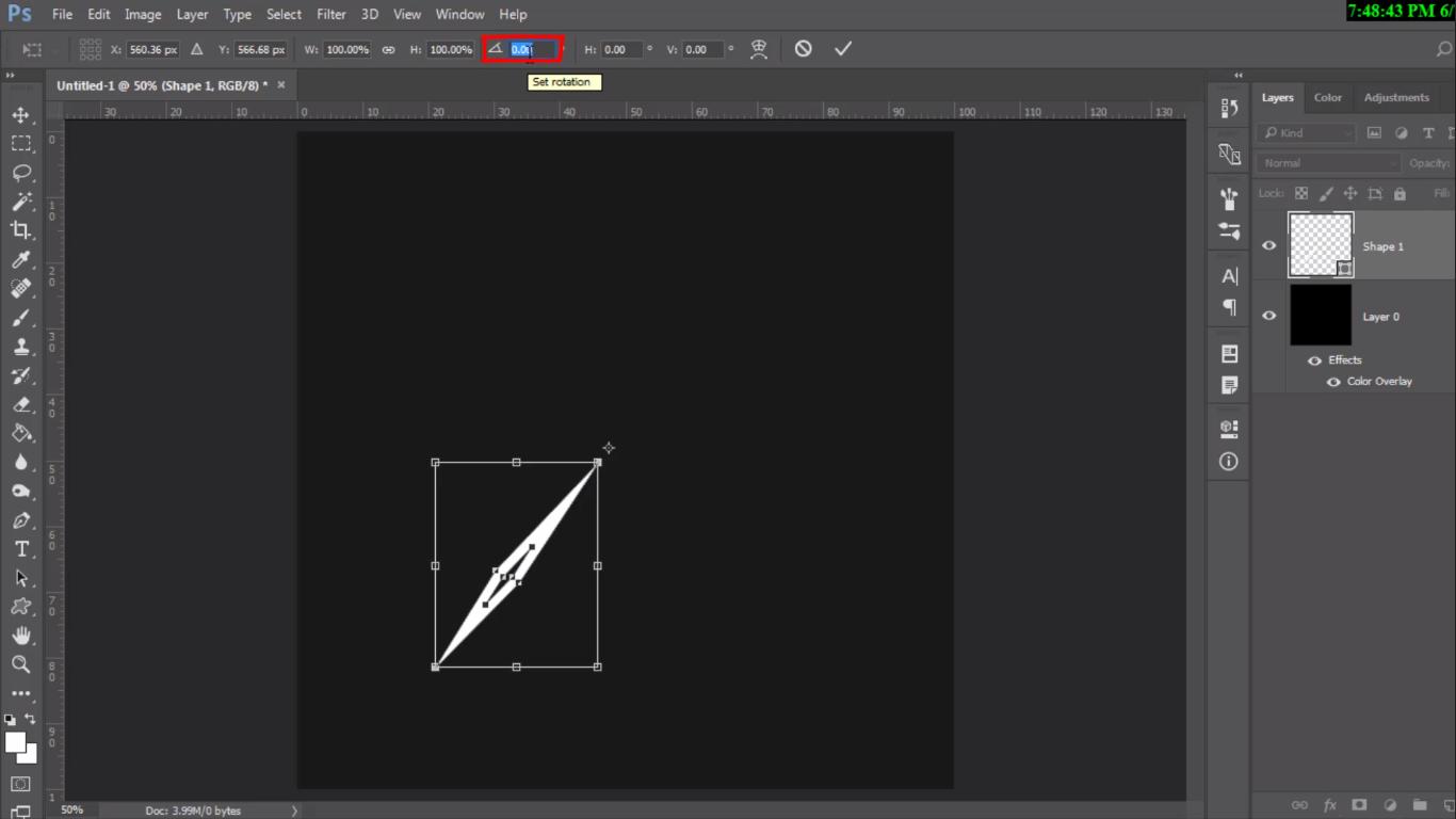 رسم shape