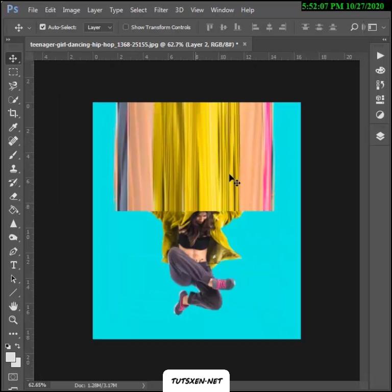 ایجاد تصویر دنباله دار در فتوشاپ