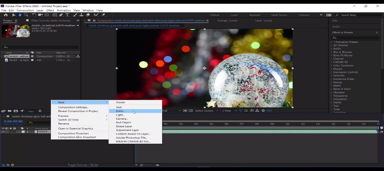 ایجاد بارش برف روی ویدیو