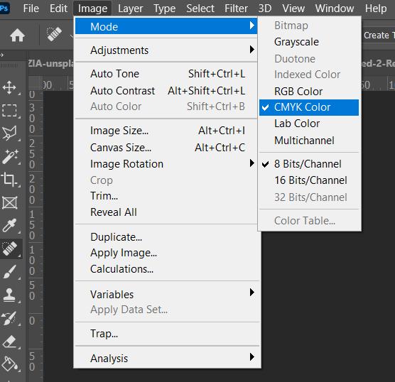 تبدیل مد RGB به CMYK